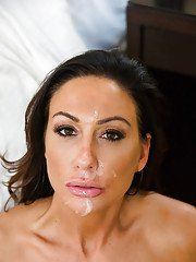 Pornstar wife Tiffany Brookes takes cum in mouth after doggystyle fucking