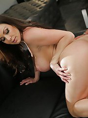 Hot MILF Kendra Lust riding fat cock after delivering blowjob