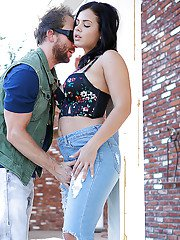 Curvy Latina chick Keisha Grey has mouth and cunt stuffed with dick