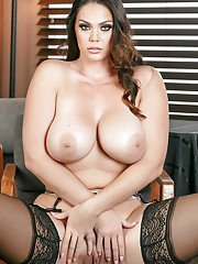 Buxom wife Alison Tyler showing off big ass and large natural boobs