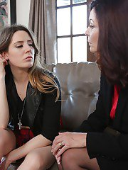 Old and young lesbian sex with Samantha Bentley and Magdalene St Michaels