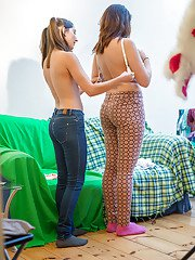 Hidden camera catches young amateurs Alba and Maia getting dressed