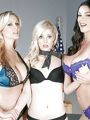 Rough lesbian sex with Alison Tyler Charlotte Stokely and Julia Ann