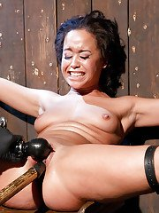 Innocent mommy Mia Austin taking forced double penetration from toys