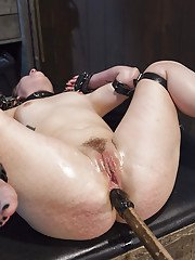 Redheaded MILF Claire Robbins forced into straight-jacket for hardcore sex