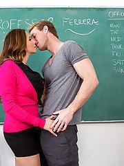 Latina MILF teacher Ariella Ferrera taking hardcore fucking from student