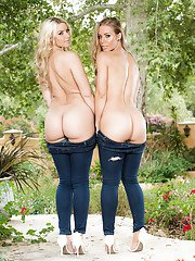 Dyke pornstars Nicole Aniston and Anikka Albrite free nice butts from jeans