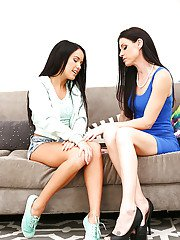 Mom and teen lesbian sex with pussy eaters India Summer and Megan Rain