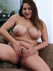 Italian BBW CeCe Giovanni loosing large juggs and pierced nipple