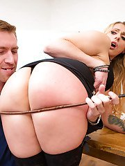 European teacher Brittany Bardot taking hardcore fucking of big MILF ass