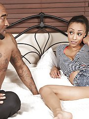 Busty black wife Alyssa Divine and BBC hookup for hardcore fuck session