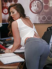 Office worker Maddy Oreilly offering up nice ass for anal sex from big cock