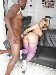 PAWG Ryan Conner fucking huge black cock for interracial cumshot on booty