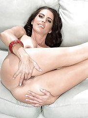 Salacious mature Katrina Kink takes off a skirt to show off her tight body
