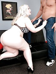 Overweight blonde Klaudia Kelly giving up huge ass for doggystyle butt fucking