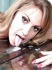 Annette Hotwife endures guys extra large dick to bang her brains out on cam