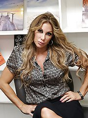 Over 40 broad Farrah Dahl stripping naked in her home office