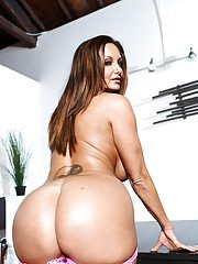 European vixen Ava Addams demonstrates her lusty hole and big bottom