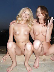 Sensual girls Gia Love and Teagan Summers pure nudity and softcore
