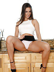 Solo girl Cassidy Klein removes skirt and pretties outside in teasing manner