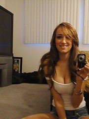 Petite babe Victoria Rae Black makes a few self shots showing off naked body