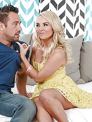Superb Aaliyah Love applies perfect blowjob until getting jizzed on face