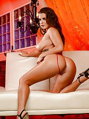 Latina pornstar Keisha Grey showing off sexy ass and great legs