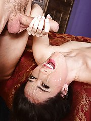 Older lady Delia Dukes parting pussy lips for big cock penetration