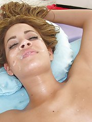 Premium massage to end with ehavy sex for busty blonde Isis Taylor