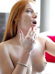 Young redhead Alex Tanner fucked deep in the pussy after a premium blowjob