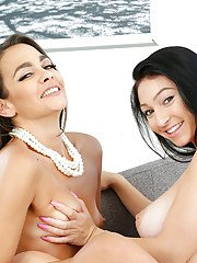 Cyrstal Rae and Bobbi Rydell in amazing lesbian couch softcore