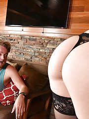 Horny cougar Chanel Preston changing into sexy lingerie to seduce younger man