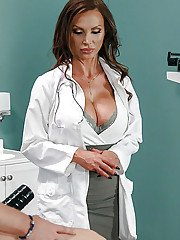 Busty doctors Nikki Benz and Briana Banks have 3some with hospital patient