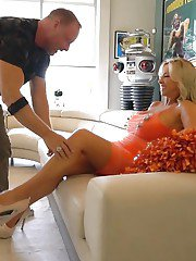 Mature blonde housewife Sandra Otterson getting banged and swallowing jizz
