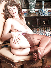 Appealing moments of spicy nudity along woman with large boobs Valory Irene