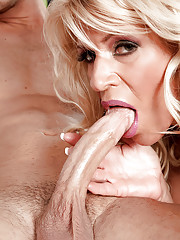 Busty Gina West endures much younger man to fuck her brains out on cam