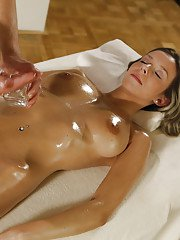 European beauty Tracy delights with sex during massage in a very hot mode