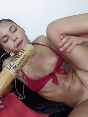 Petite Latina pornstar Apolonia getting off during anal sex games