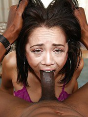 Bikini clad slut Kristina Rose having a BBC shoved down her throat