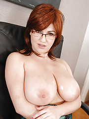 Busty cougar Sandra Boobies gets her awesome boobs fucked by a young dude