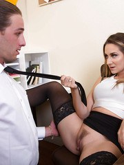 Smashing scenes of office cock sucking with needy Cassidy Klein