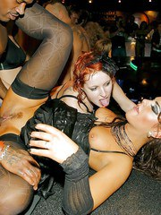 European party goers find themselves in middle of swinging groupsex