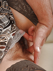 Mature chick in nylon stockings getting her hairy beaver licked and nailed
