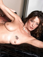 Mature Lucy Holland goes hardcore with younger stud and enjoys facial