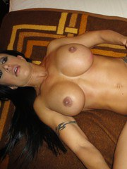Hot MILF with fake tits Jewels Jade grinds on cock exposing tattooed backside