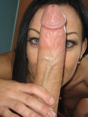 Pretty hot MILF Violet Marcell deepthroats a huge cock and takes cum in mouth