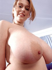 British amateur babe in sportswear Nicole Peters exposes her big fat tits