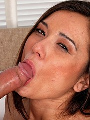 Nice amateur babe Cece Stone gets her mouth and hairy twat filled with pecker