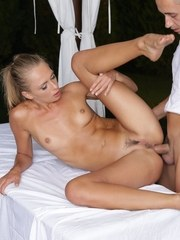 Ivana Sugar has her tight butt spread during massage for ass fucking