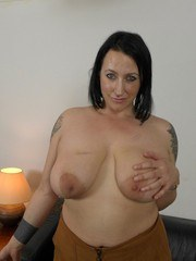 Fatty amateur Jemma Summers loves touching her big tits and pussy on cam